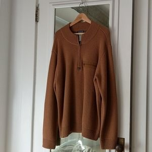 Men's Patagonia Tan Lambswool Quarter Zip Sweater